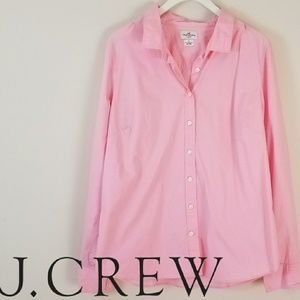 J. Crew | Pink Button Up Blouse  [Tops]